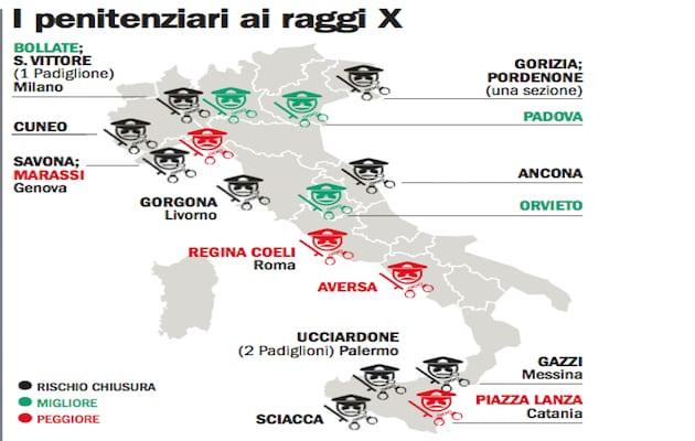 migliori e peggiori carceri italiane