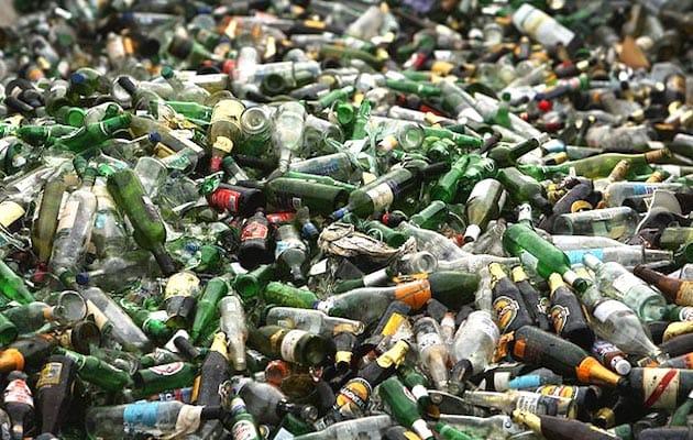 bottiglie di vetro riciclo e riuso