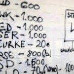 Listino prezzi droghe sul muro della scuola