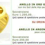 1.200 Euro per l'anello della Lega Nord. Accattatevillo!