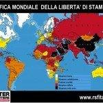 Classifica mondiale della libertà di stampa 2013: Italia al 57° posto