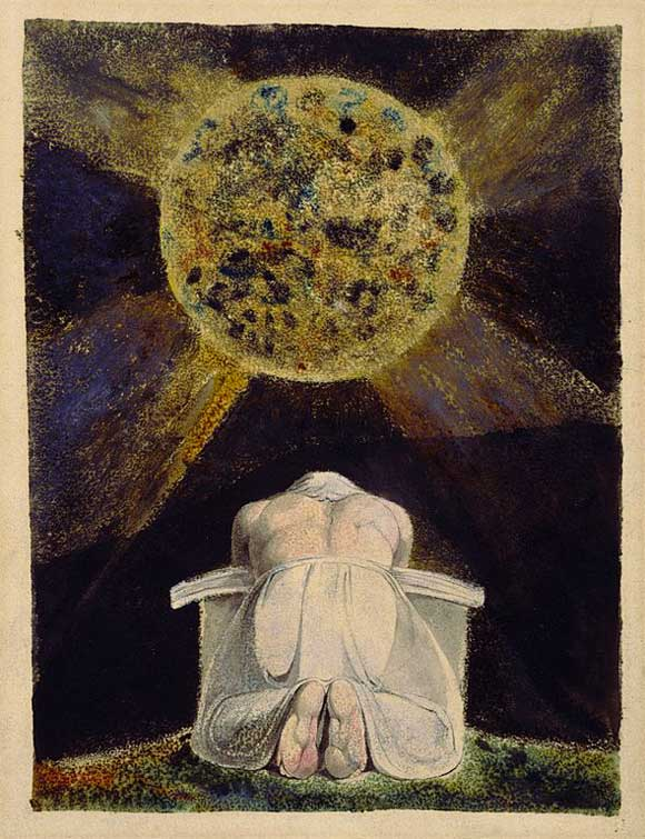 L'archetipo del Creatore è un'immagine ricorrente nel lavoro di William Blake. Qui Blake dipinge il demiurgo Urizen raccolto in preghiera mentre contempla il mondo che ha creato.