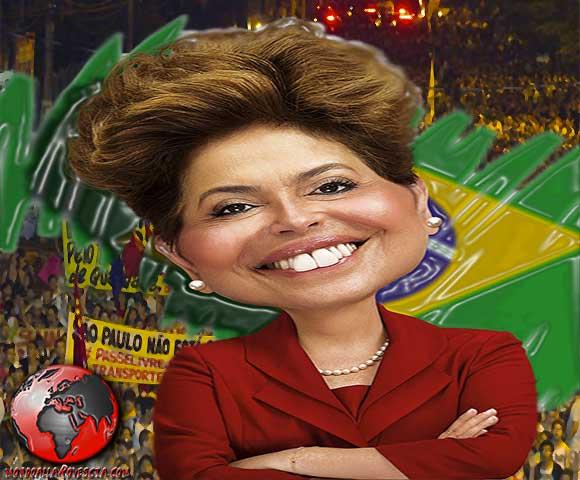 Dilma Rousseff proteste in Brasile