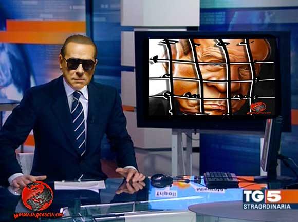 Berlusconi conduce il Tg5