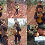 Papà dell'anno: 30 km con il figlio sulle spalle per portarlo a scuola