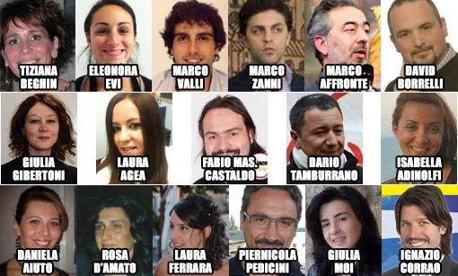 17 eletti-Movimento 5 Stelle