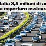 In Italia 3,5 milioni di auto senza copertura assicurativa