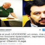 Salvini piange Daniza, tre anni fa però la carne di orso se la mangiava