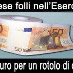 Sprechi al ministero della Difesa: 17 euro per un rotolone di carta