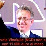 """Onorevole Vinciullo (Ncd): """"Con 11mila euro non arrivo a fine mese"""""""