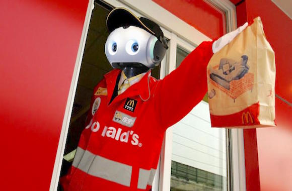 robots working mcdonalds