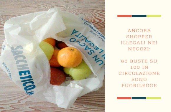 Sacchetti di plastica illegali