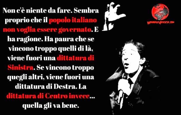 Giorgio Gaber e la Democrazia