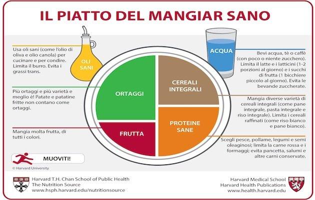 il piatto del mangiar sano