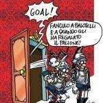 Vignetta: Napolitano e Balotelli