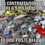 La contraffazione fa perdere 6,9 miliardi e 110.000 posti di lavoro