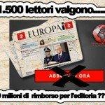 30 milioni di euro per non leggere il quotidiano Europa