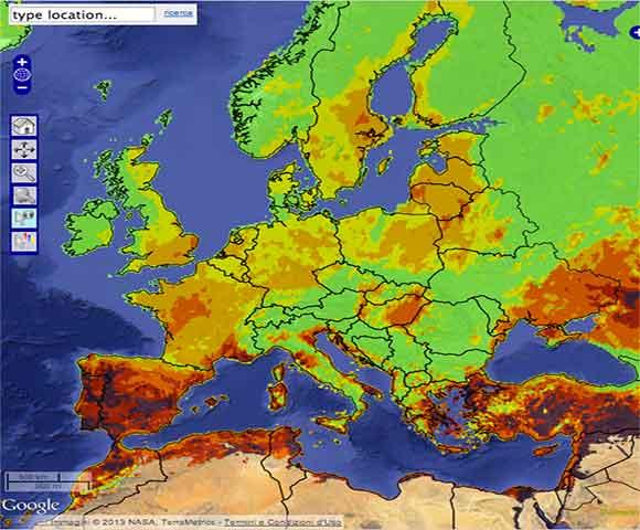 Situazione attuale degli incendi in Europa