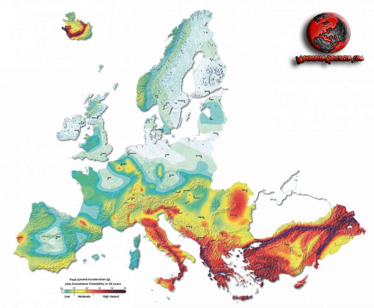 mappatura sismica Europa