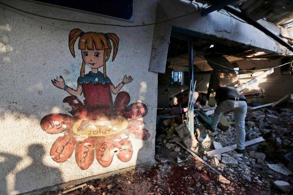 Gaza-scuola bombardata