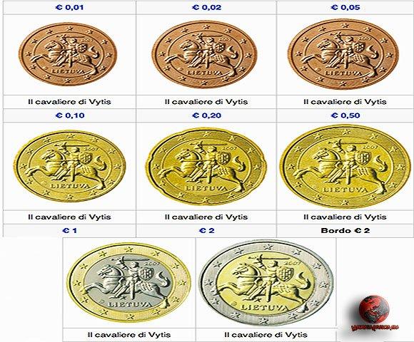 Il design delle monete euro lituane