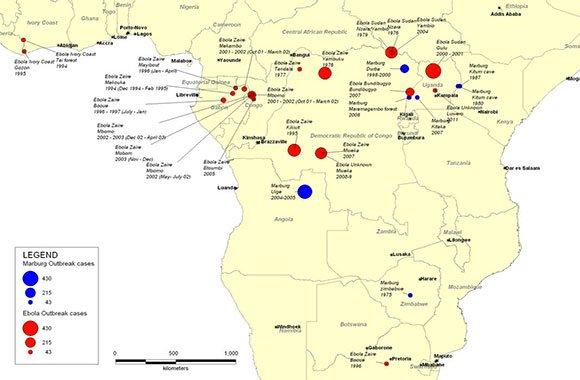 Ebola-mappa