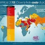 La classifica dei paesi anticristiani, nel 2014 uccisi 4.344 cristiani