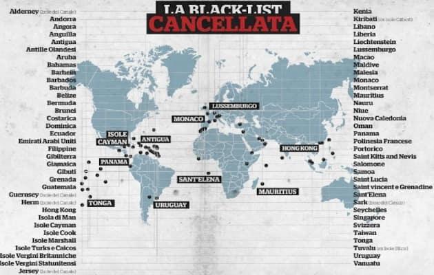 mappa dei paradisi fiscali
