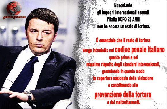 reato-di-tortura-Matteo-Renzi