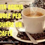 Quanta acqua ci vuole per produrre un caffè? 140 litri