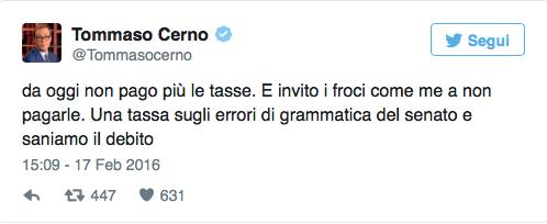 Tommaso Cerno-scipero fiscale