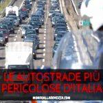 Le autostrade più pericolose d'Italia