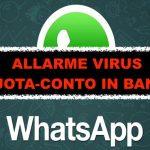 WhatsApp, allarme virus