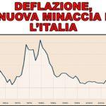 Italia in deflazione, non accadeva dal 1959