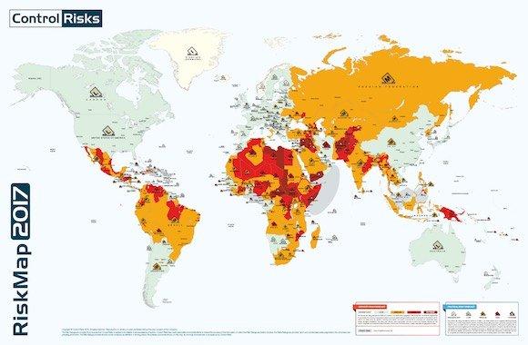 mappa rischio terrorismo