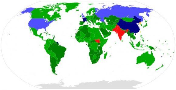 Paesi sottoscrittori del Trattato di non proliferazione nucleare