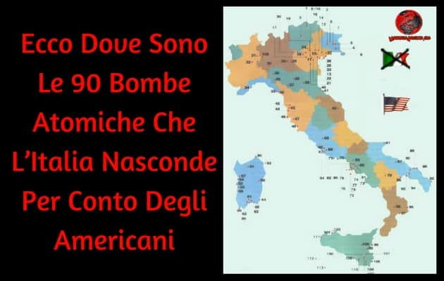 mappa bombe atomiche in italia