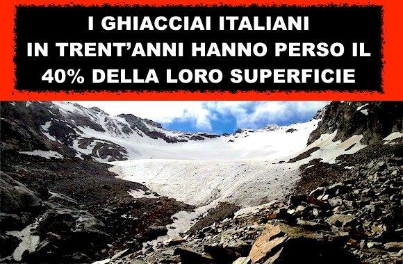 La scomparsa dei ghiacciai italiani