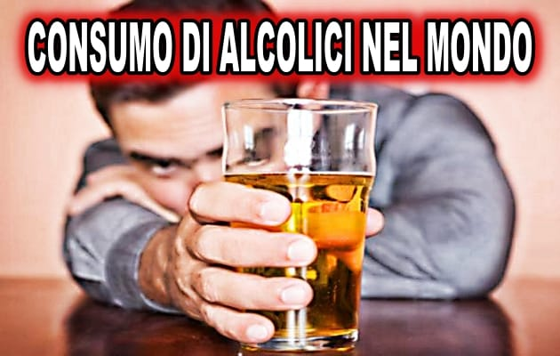 consumo di alcol nel mondo