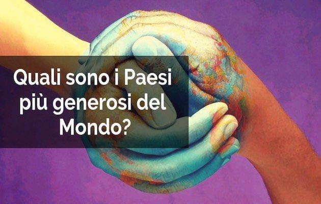 Paesi più generosi del mondo