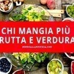 Consumi di frutta e verdura: La classifica dei Paesi che ne mangiano di più